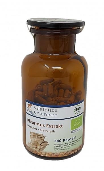 Bio Pleutorus Extrakt Kapseln 240 im Vorratsglas
