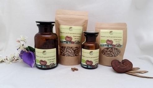 Bio Reishi (Ganoderma lucidum) - Ling Zhi Extrakt Kapseln