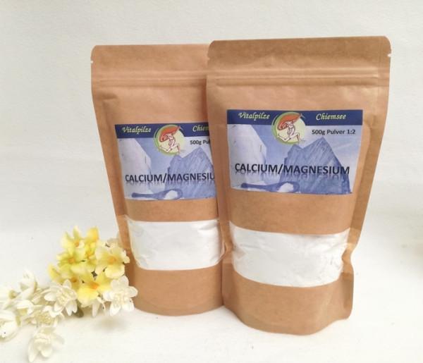 Calcium Magnesium Pulver 2x500g im Nachfüllpack