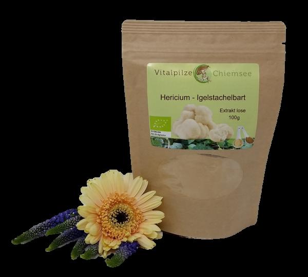 Bio Hericium Extrakt lose 100g Nachfüllpack