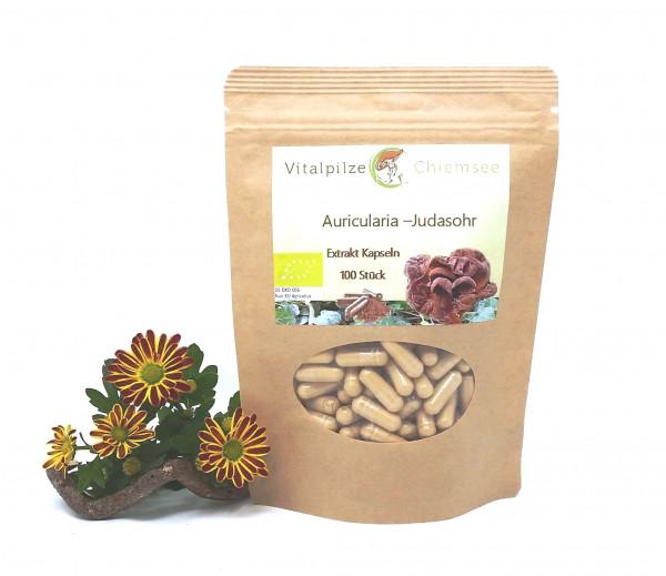Bio Auricularia Extrakt Kapseln 100 Nachfüllpack
