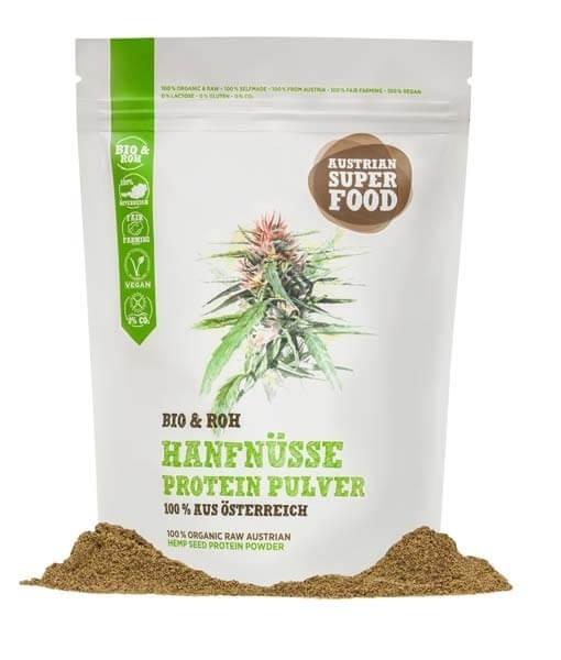 Bio & Roh Hanfnüsse Protein Pulver