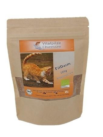 Katzen Vitalpilz Mischung Fitdarm 100g im Doypack