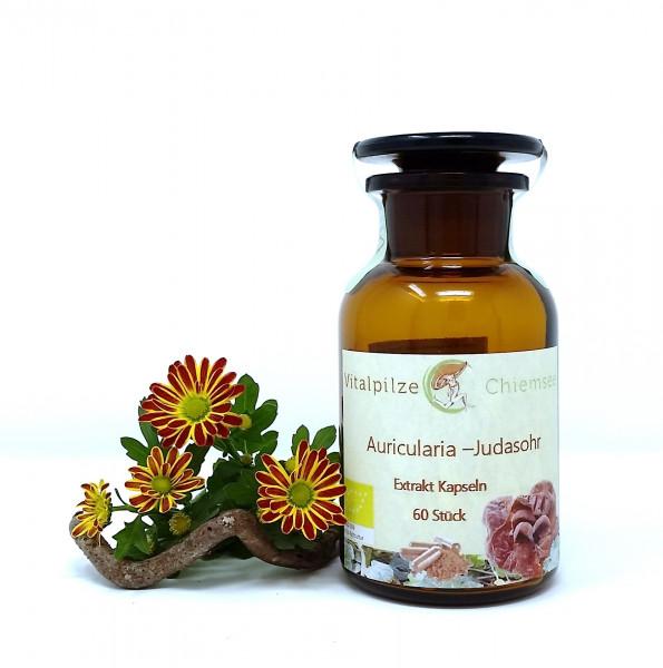 Bio Auricularia Extrakt Kapseln 60 im Vorratsglas