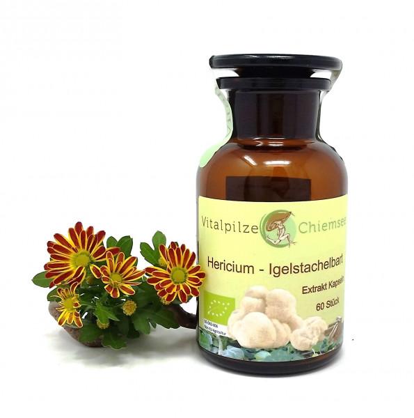 Bio Hericium Extrakt Kapseln 60 im Vorratsglas