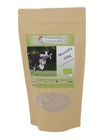 Hunde Vitalpilz Mischung MuckiFit 200g im Doypack