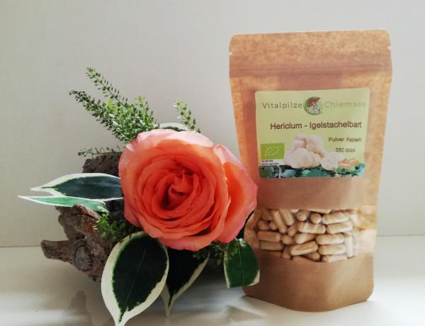 Bio Hericium Pulverkapseln 250 Nachfüllpack