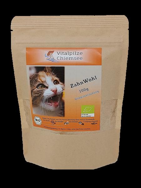 Katzen Vitalpilz Mischung ZahnWohl 100g im Doypack