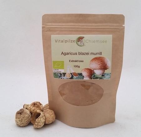 Bio Agaricus Extrakt lose 100g im Nachfüllpack